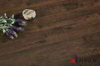 P2325-Black Walnut Texture Laminate Flooring with 4-side Wax Seal
