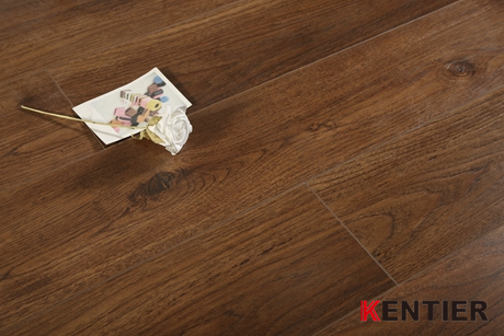 K1301-Brown Color Laminate Flooring with Random Length